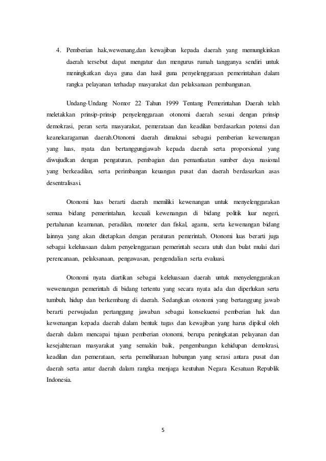 Makalah Desentralisasi Dan Otonomi Daerah Fisip Unmer Malang