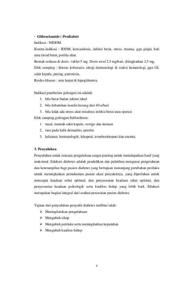 TERAPI KOMBINASI ANTIDIABETIKA ORAL (METFORMIN DAN GLIBENKLAMID) UNTUK DIABETES MELITUS TIPE 2