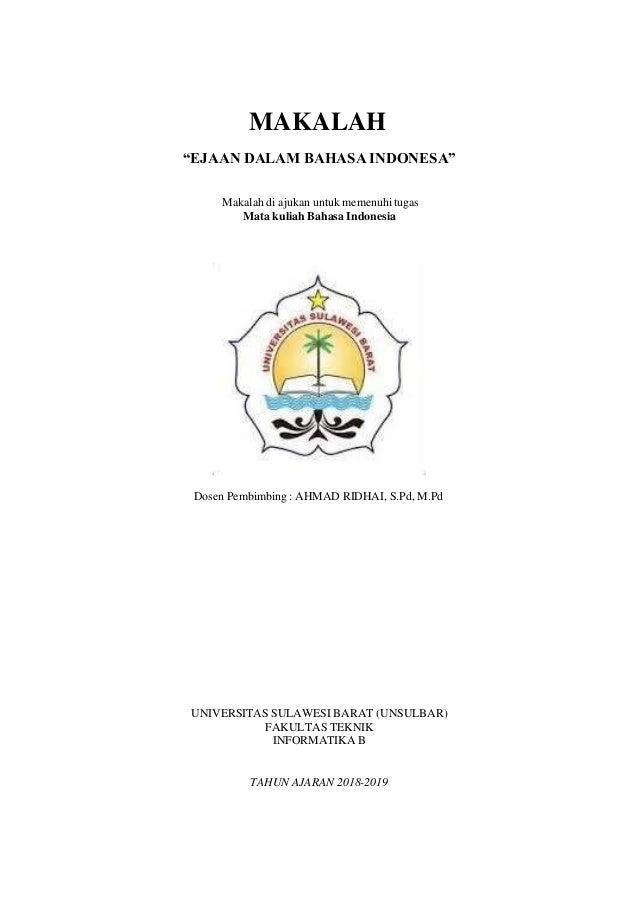 Makalah Bahasa Indonesia Firdayanti