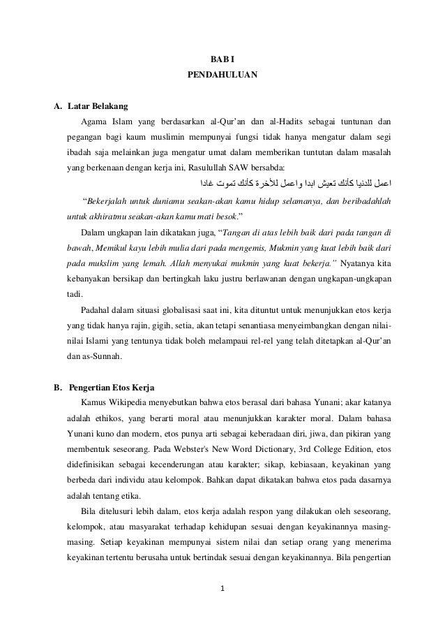 BAB I PENDAHULUAN  A. Latar Belakang Agama Islam yang berdasarkan al-Qur'an dan al-Hadits sebagai tuntunan dan pegangan ba...
