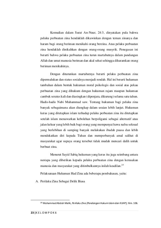 Makalah Fikih Jinayah Tentang Jarimah Hudud Zina Dan Qazaf