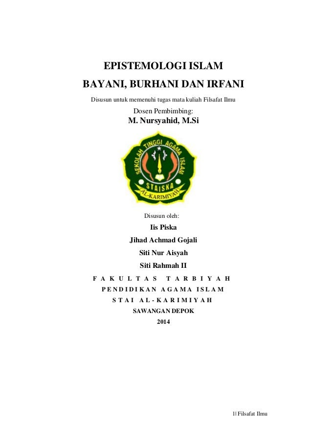 Contoh Tesis Filsafat Islam Contoh Soal Dan Contoh Pidato Lengkap