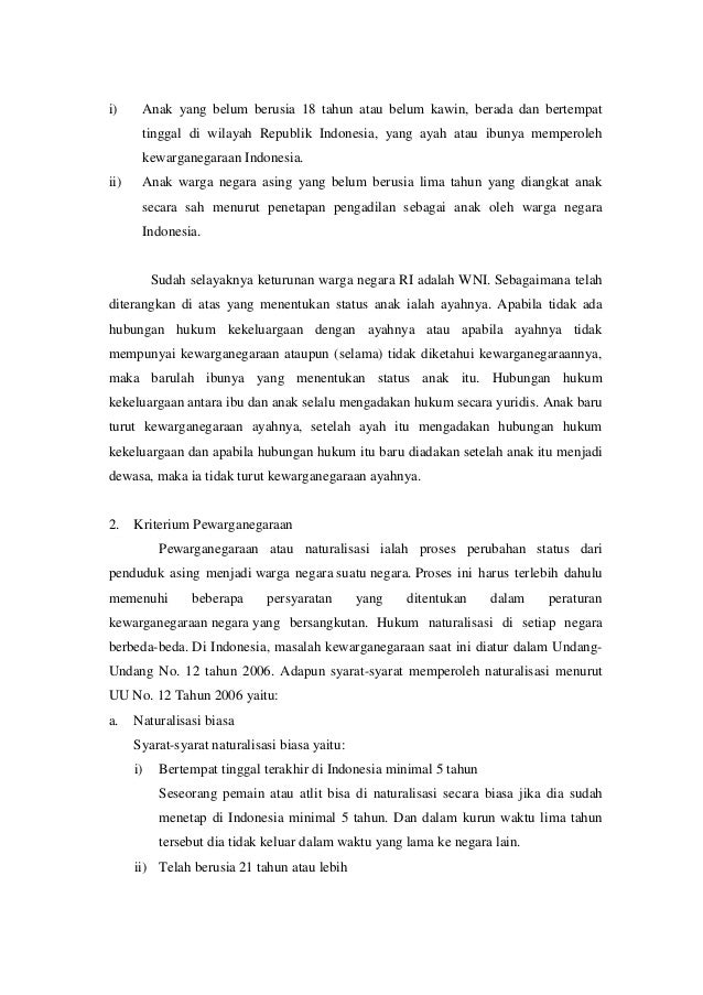 Makalah Hak Dan Kewajiban Warga Negara Indonesia