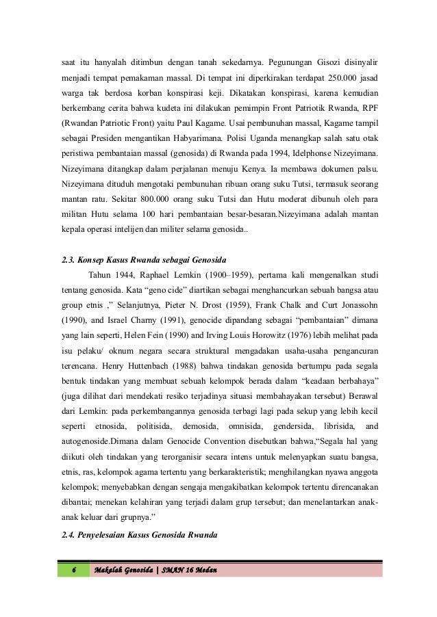 makalah pembunuhan Kata pengantar puji syukur saya panjatkan kehadirat allah swt tuhan yang maha esa, karena atas berkat rahmat dan hidayah-nya sehingga saya dapat menyelesaikan makalah ini.