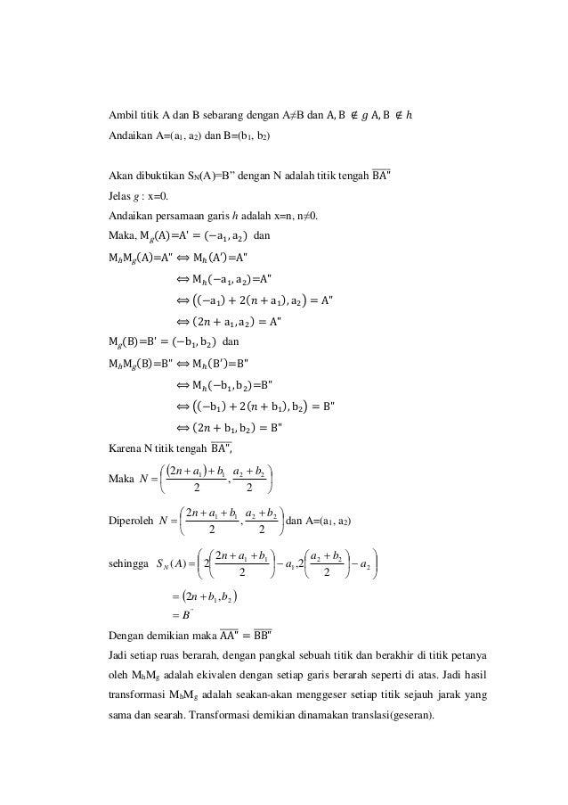 Makalah geseran (translasi) Slide 3