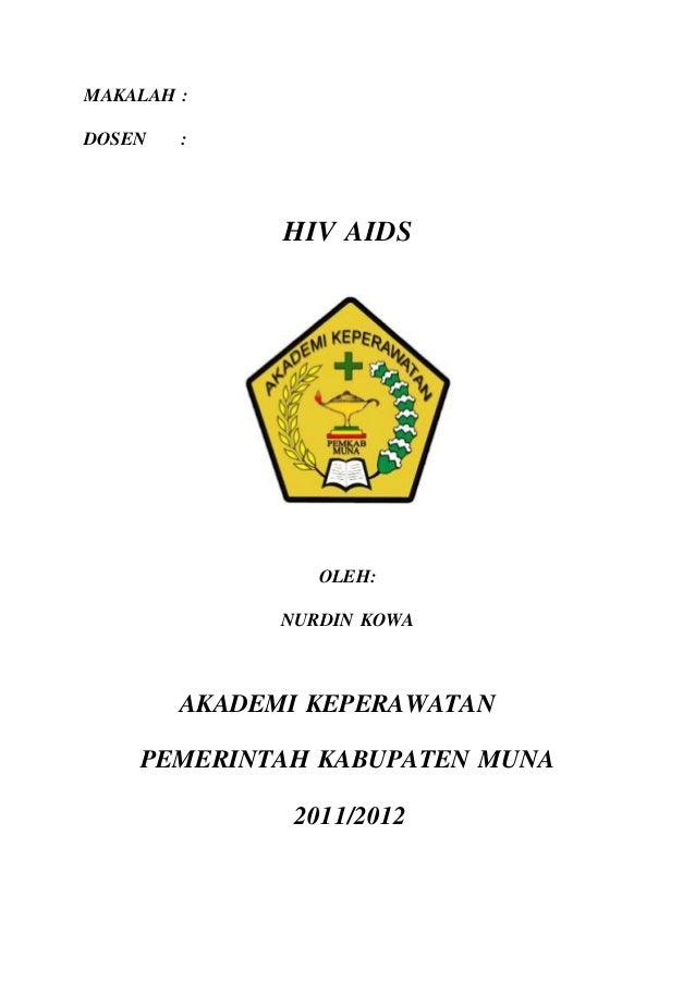 Makalah Hiv Aids Lengkap Contoh Makalah