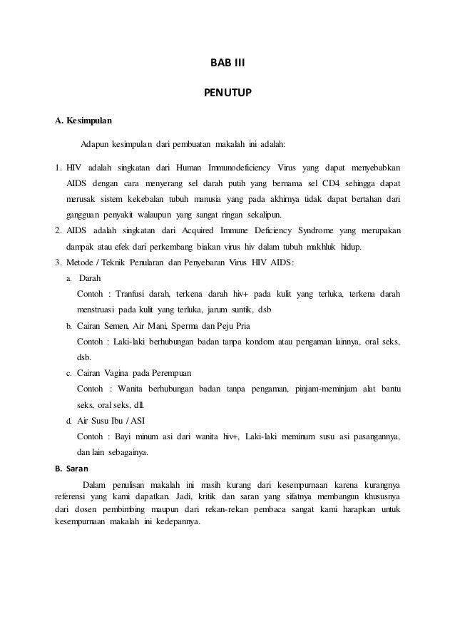 Contoh Makalah Hiv Pdf Awan Danny Media
