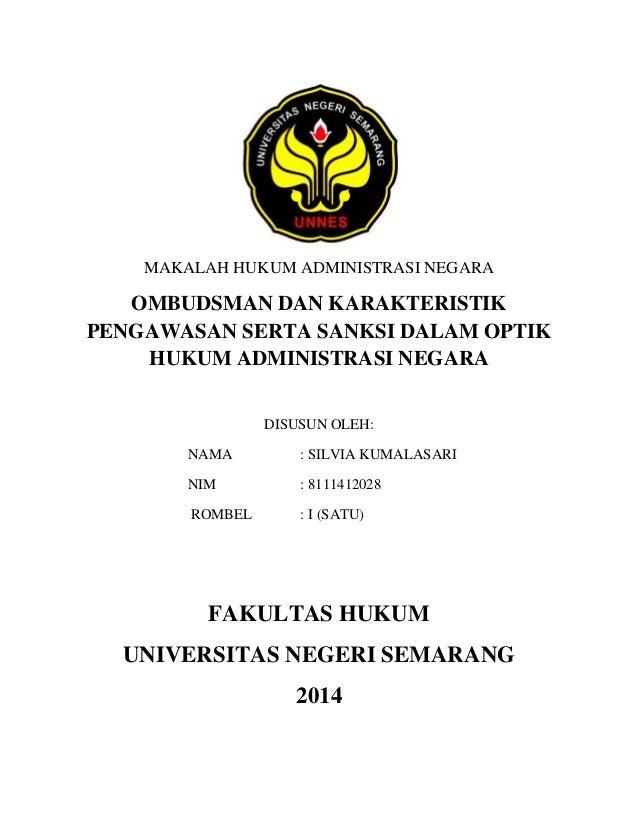 Makalah Hukum Administrasi Negara Silvia 8111412028