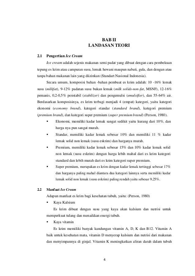 Makalah ice cream 3 9 bab ii landasan teori 21 pengertian ice cream ccuart Image collections