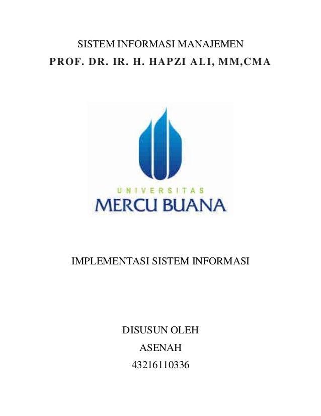 Makalah Implementasi Sistem Informasi