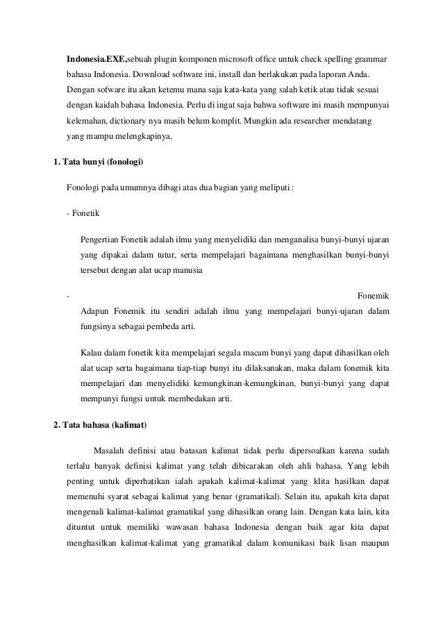 Penggunaan Eyd Dalam Penulisan Skripsi