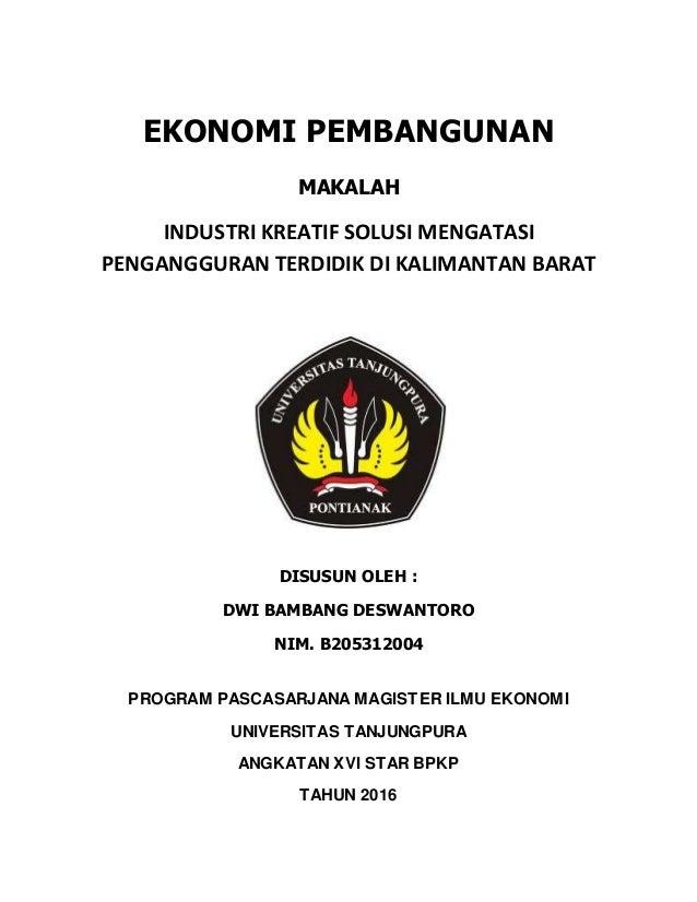 Contoh Essay Ekonomi Kreatif Materi Pelajaran 5