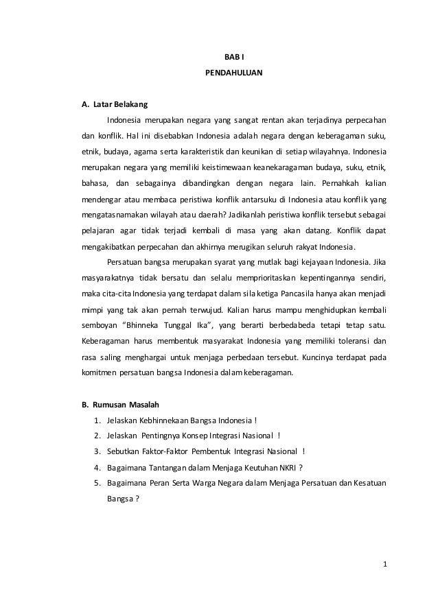 Makalah Integrasi Nasional Dalam Bingkai Bhinneka Tunggal Ika