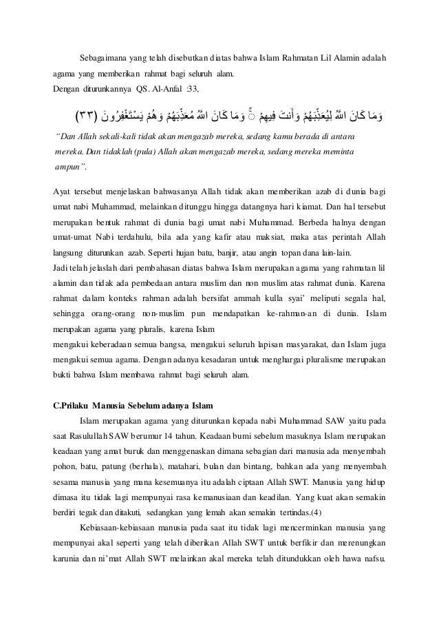 Makalah Islam Sebagai Rahmatan Lilalamin