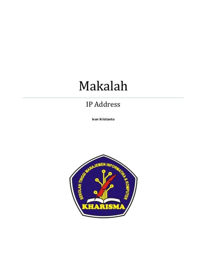 Makalah IP Address  Ivan Kristianto
