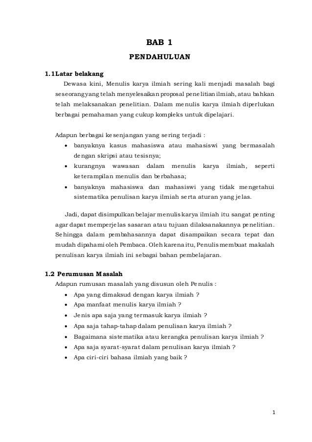 Contoh Makalah Karya Tulis Ilmiah