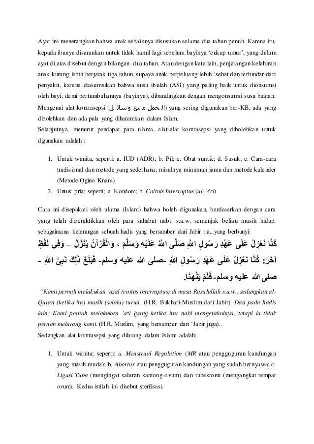 Makalah kb dalam islam
