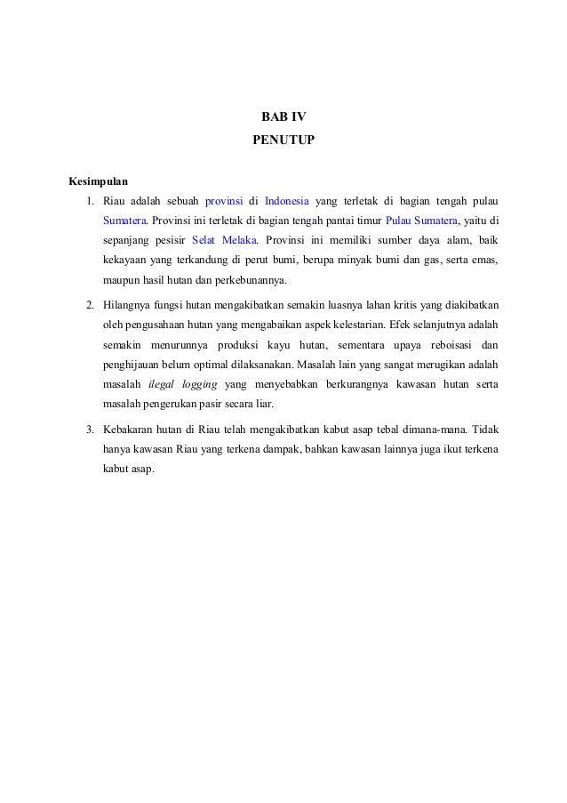 Makalah Kebakaran Hutan Riau
