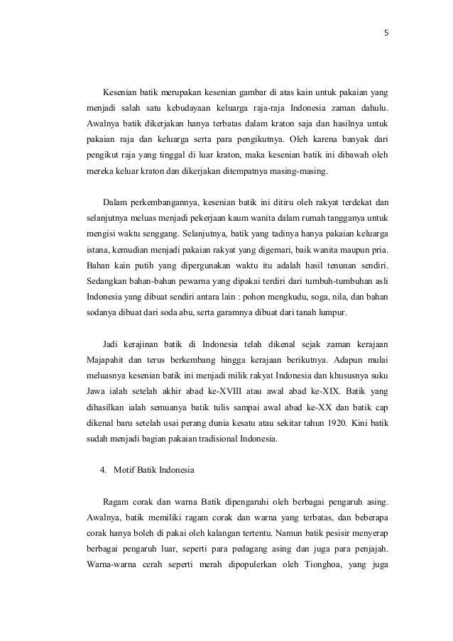 Makalah kebudayaan batik indonesia 9682af6b37
