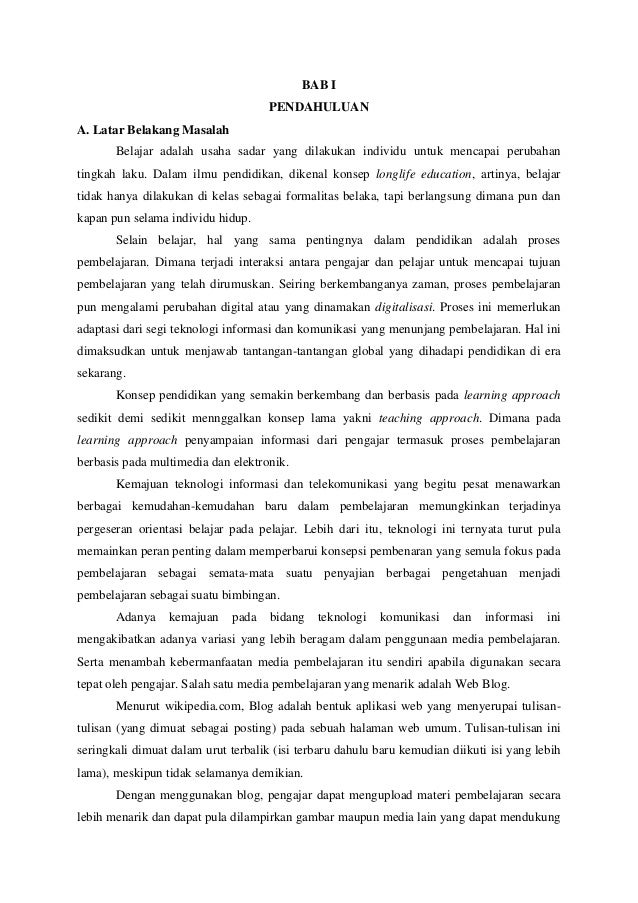 makalah Blog Pembelajaran Slide 2