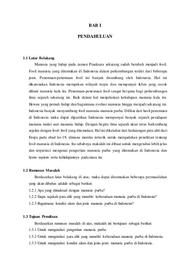 Makalah Manusia Purba Di Indonesia