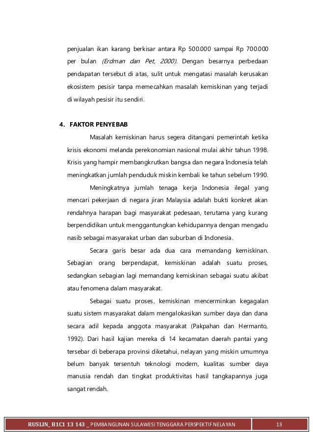 Makalah Kemaritiman Nelayan Sulawesi Tenggara Ruslin B1 C1 13 143