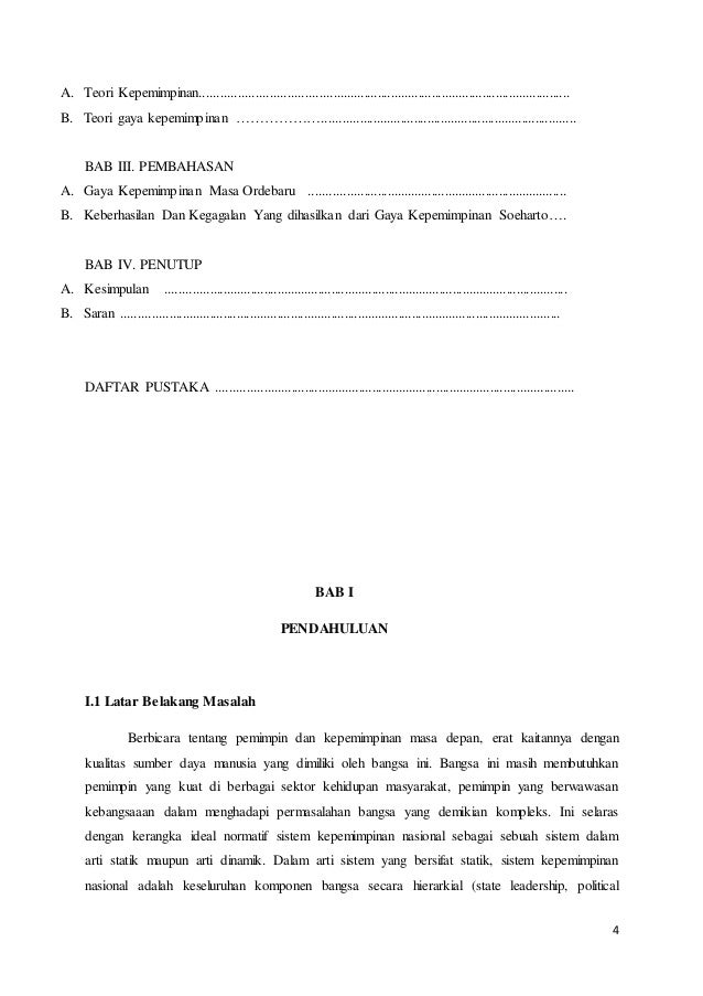 Makalah Kepemimpinan Orde Baru Dosen Erina Pane Sh Mh Oleh Achmad A