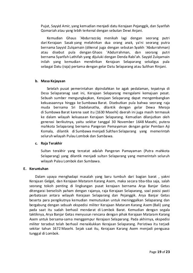 Makalah Kerajan Islam Di Maluku Dan Nusa Tenggara