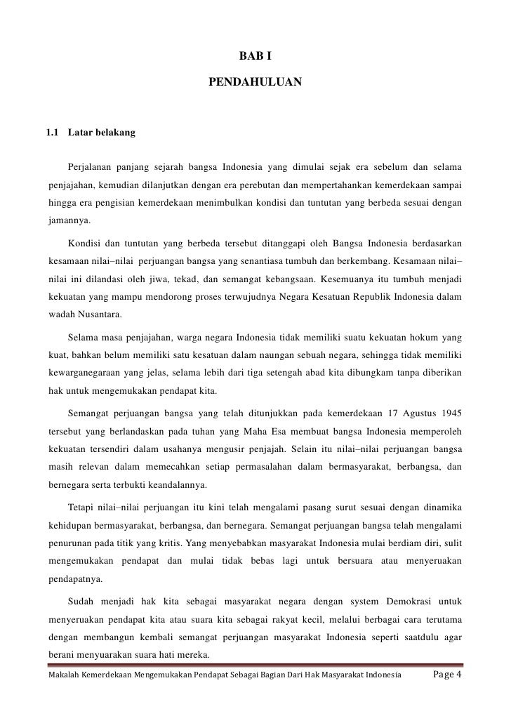 BAB I                                         PENDAHULUAN1.1 Latar belakang    Perjalanan panjang sejarah bangsa Indonesia...