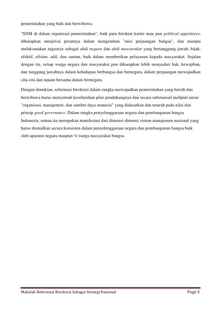 Makalah Reformasi Birokrasi Sebagai Strategi Nasionaldocx