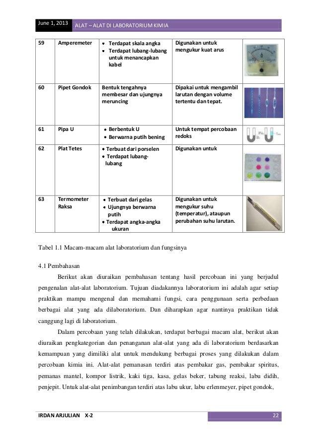 Makalah Kimia Pengenalan Alat Alat Di Laboratorium Kimia Irdan Arj
