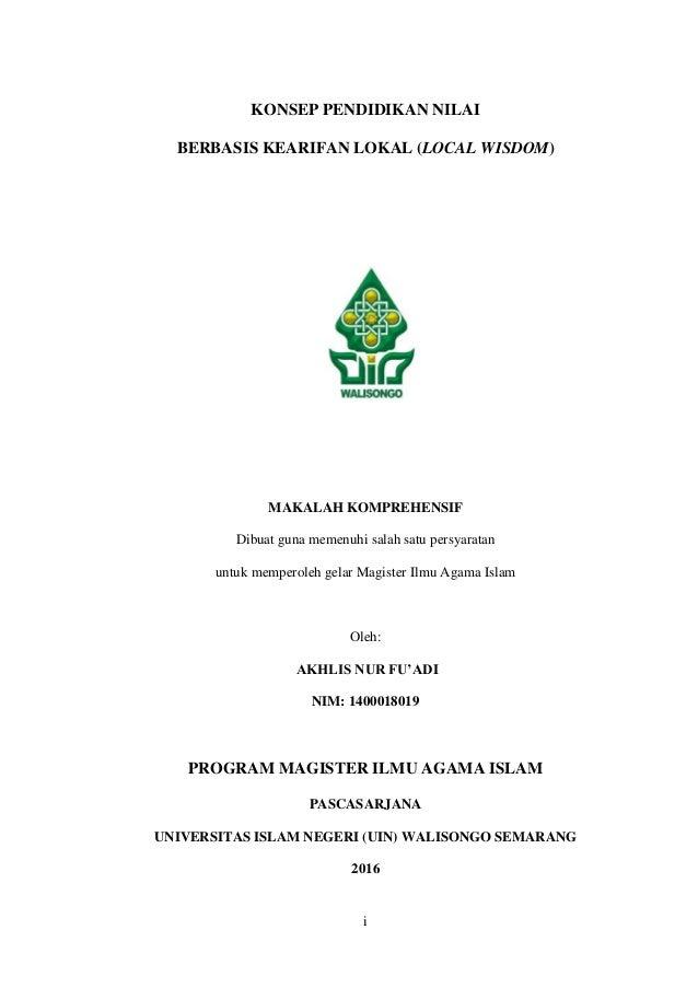 Makalah Komprehensif Pascasarjana Uin Walisongo Semarang Islamic Stud