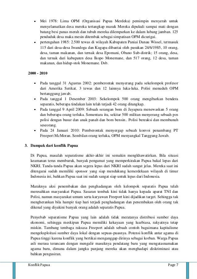 Makalah Konflik Papua