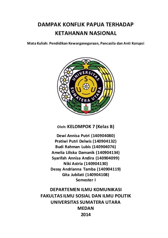 Makalah Penelitian Dampak Konflik Papua Terhadap Ketahanan Nasional