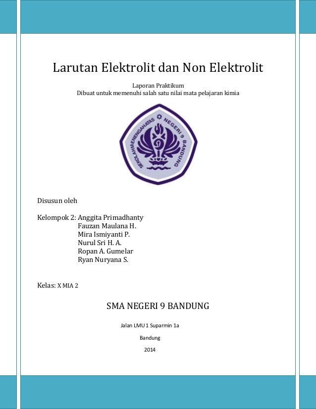 Laporan Larutan Elektrolit Dan Non Elektrolit