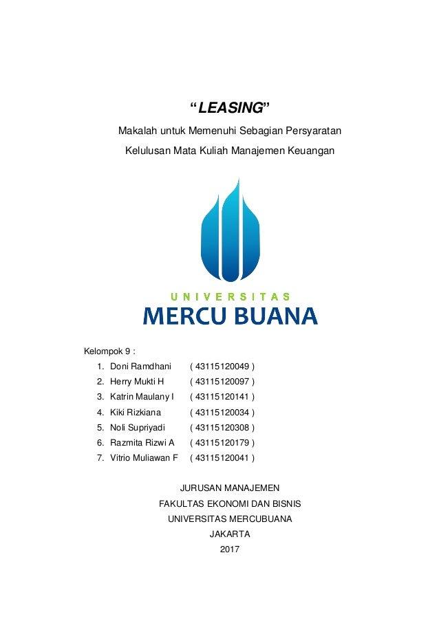 Makalah Manajemen Keuangan Leasing