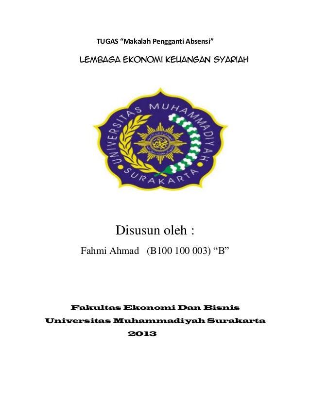 Makalah Lembaga Ekonomi Keuangan Syariah