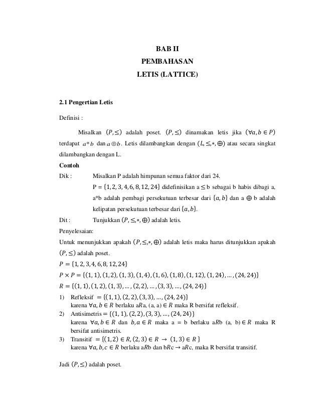 Letis mk matematika diskrit bab ii pembahasan letis lattice 21 pengertian letis definisi misalkan ccuart Gallery