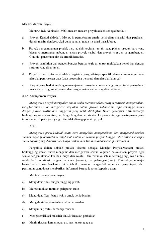 Contoh Makalah Manajemen Proyek Pembangunan Jalan Pdf Awan Danny Media