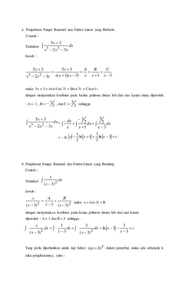 Makalah Matematika Integral