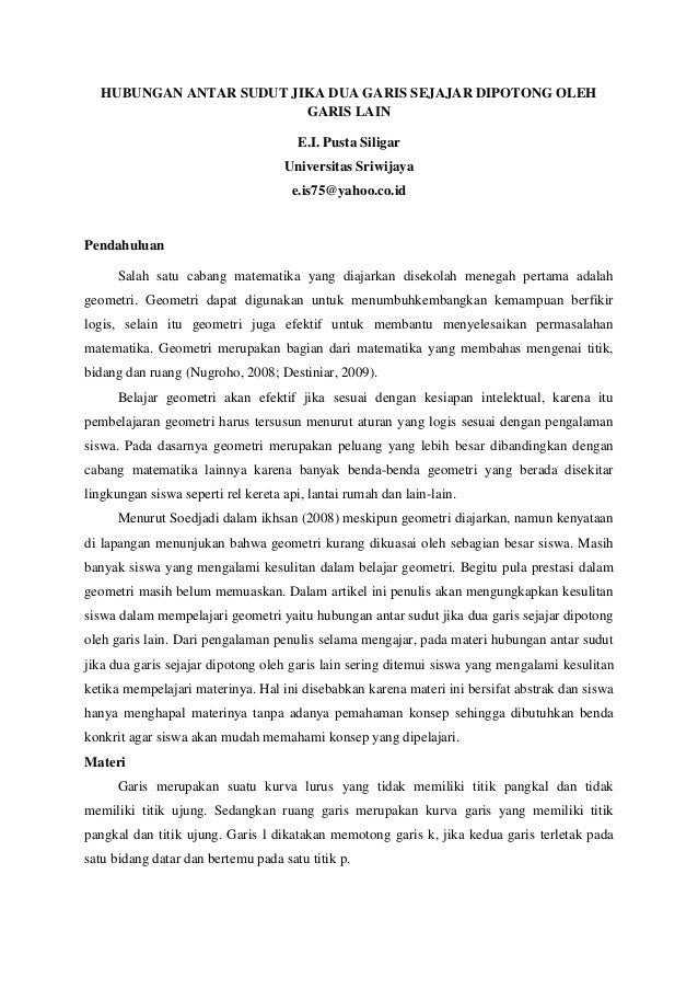 Download Contoh Makalah Matematika Smp