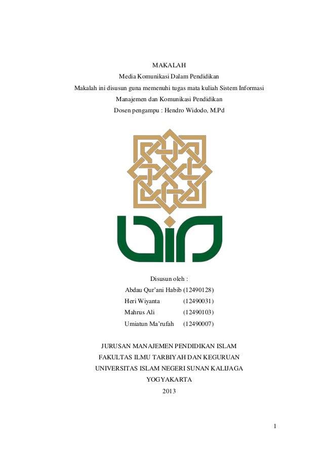 MAKALAH Media Komunikasi Dalam Pendidikan Makalah ini disusun guna memenuhi tugas mata kuliah Sistem Informasi Manajemen d...