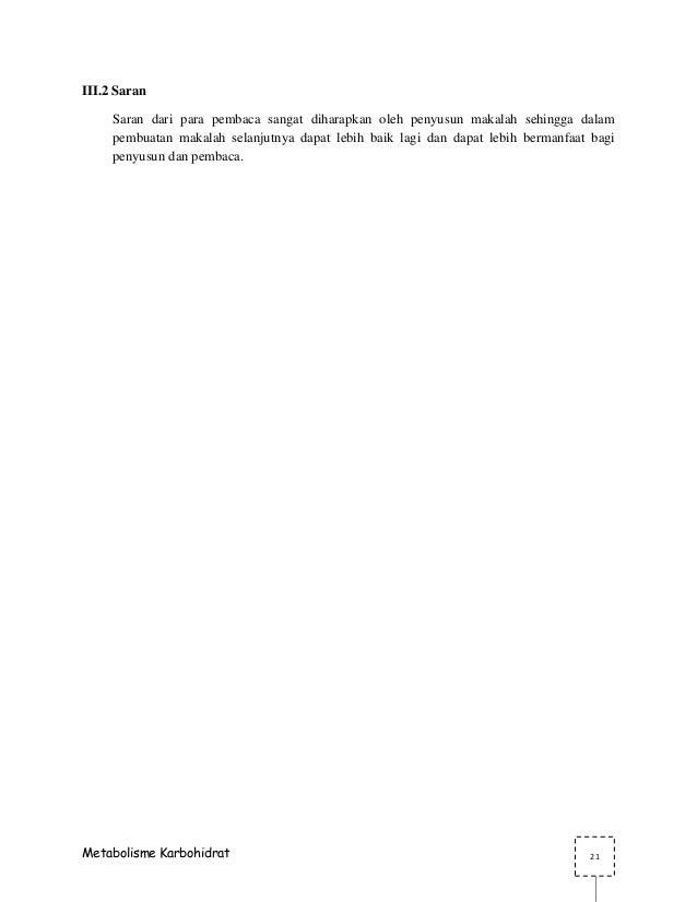 MAKALAH METABOLISME KARBOHIDRAT