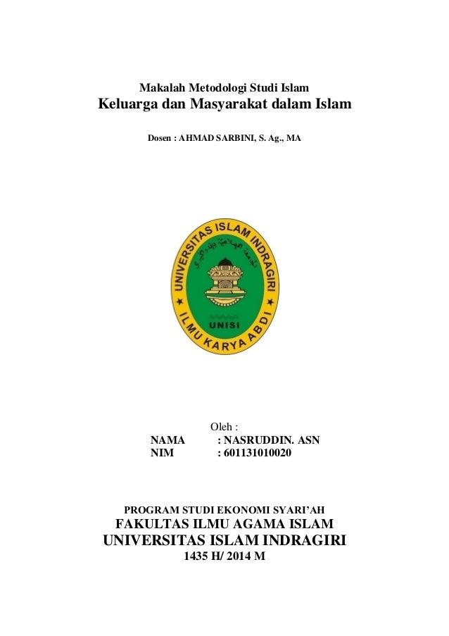 Makalah Metodologi Studi Islam Keluarga Dan Masyarakat Dalam Islam
