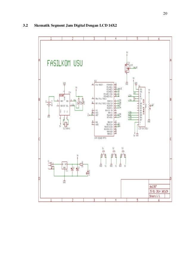 Makalah mikroprosesor jam digital dengan lcd16x2 20 32 skematik segment jam digital dengan lcd 16x2 ccuart Image collections