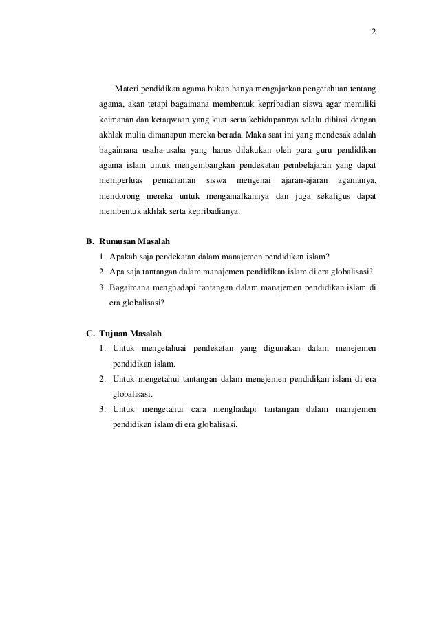 Makalah Manajemen Pendidikan Islam Pdf
