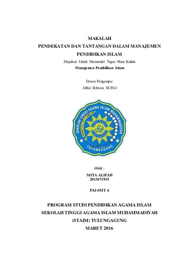 Makalah Manajemen Pendidikan Islam