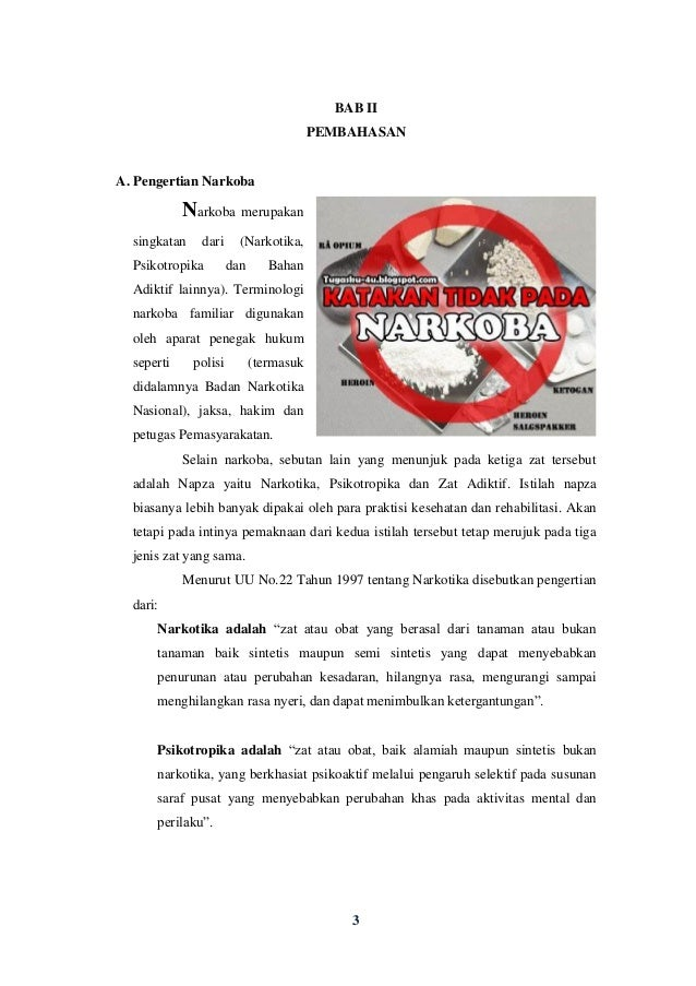 Makalah Bahaya Narkoba Bagi Remaja Indonesia