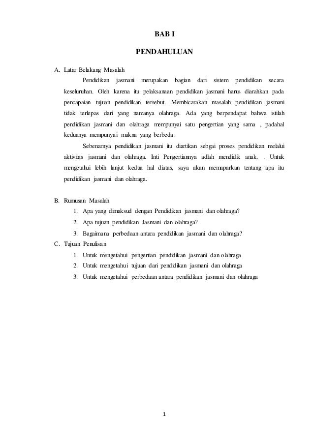 Contoh Rumusan Masalah Makalah Olahraga Download Contoh Lengkap Gratis