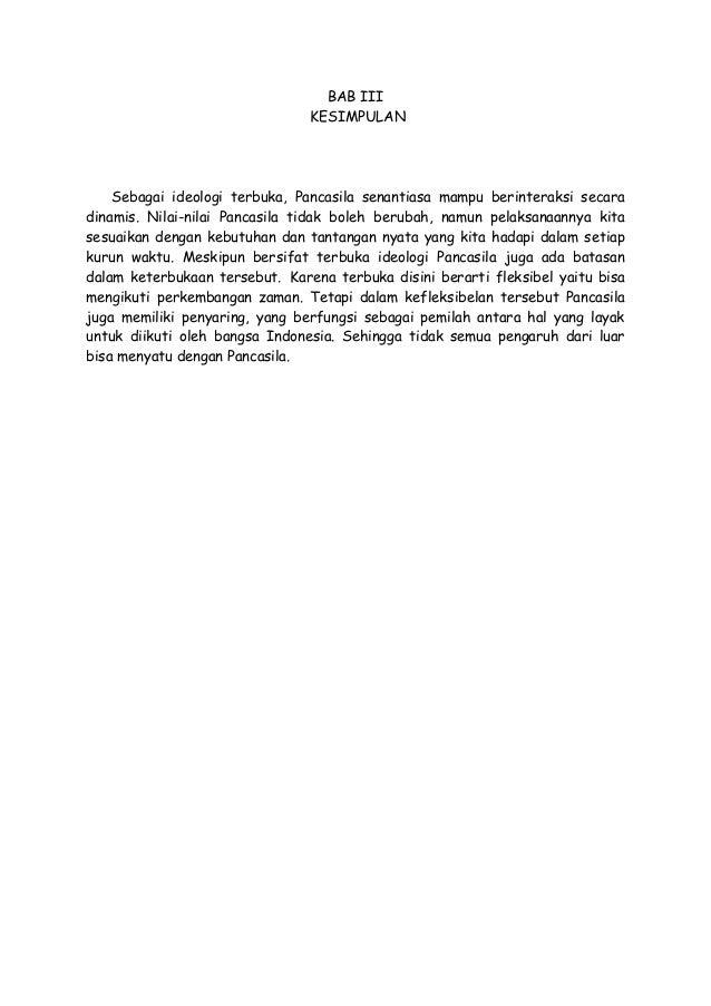 Makalah Pancasila Sebagai Ideologi Terbuka